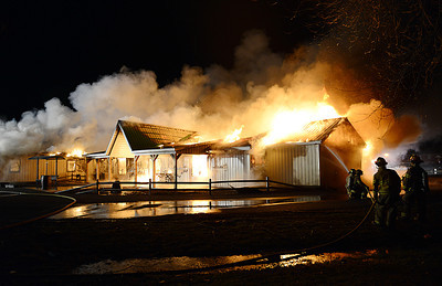 The Barnyard Restaurant, on Route 45 outside of Mifflinburg, caught fire on Wednesday night.