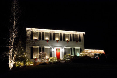 This home on Locust Lane in Danville has lights and decorations up for Christmas.