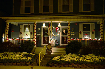 A holiday decorated house on the 400 block of E. Main Street in Middleburg.