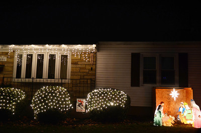 A decorated house on the 400 block of Ninth Street in Selinsgrove.