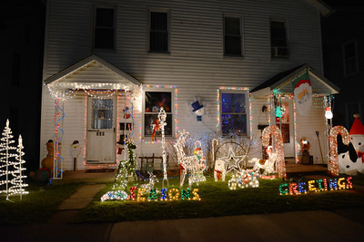 A holiday decorated house of the 300 block of Catawissa Avenue in Sunbury.
