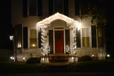 A house decorated on the 400 block of N. Orange Street in Selinsgrove.