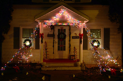 A holiday decorated house on the 400 block of Grand Street in Middleburg.