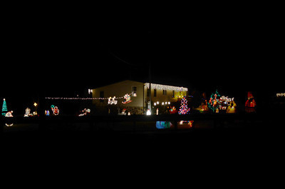 A holiday decorated yard around the 11700 block of Route 304 outside of Miffliburg.
