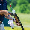 A shell ejects from a gun during the Pennsylvania State Trap Shoot on Wednesday in Elysburg.