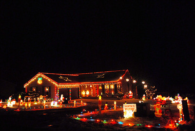A house is decorated for the season on App Road in Selinsgrove on Wedneday night.