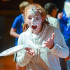 "Selinsgrove Middle School student Hailey Beaver after Brenda Folio, a science teacher at middle school, throws a pie back Beaver's face during the school's ""Torment a Teacher"" event."