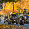 ATVs and dirt dikes travel through East Lincoln Steet in Shamokin on Saturday.
