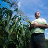 Alan Ard, owner of Ard's Farm in Lewisburg, stands by his sweet corn crop.