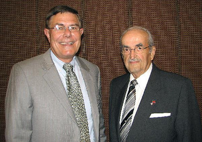 Retiring state Reps. Russell H. Fairchild, left, and Merle H. Phillips were honored by the Boy Scouts of America in June, 2010.