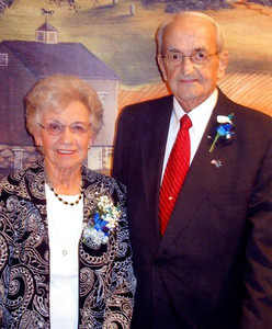Helen and Merle Phillips are shown in their 60th wedding anniversary photo last year. They were married on March 1, 1952 at Salem Reformed Church in Elizabethville.