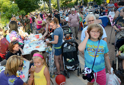 Hundreds of people filled Cameron Park in Sunbury for National Night Out Tuesday Aug 7, 2012.