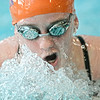 Danville's Emily Edelstein swims a leg of the 200 medley relay during Tuesday's meet against Jersey Shore in Danville.