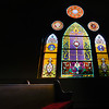 The large stained glass window at Catawissa Avenue United Methodist Church has been at the church since 1901.