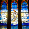 Jesus depicted in Heaven at the Zion Lutheran Church.