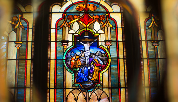 A depiction of the crussifition at Zion Lutheran Church.