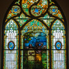 One of the main windows at First Baptist Church.