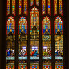 The main stained glass window at Zion Lutheran Church in Sunbury is over 60 feet high and depicts the last supper.