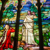 Stained Glass at Otterbein United Methodist Church depicting the ressurection.