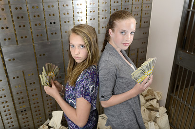 Southern Columbia Middle School 8th graders Olivia Greene, left, and Casey Bernhard.