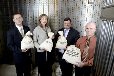 Michael Creeger, Lewisburg, Sally Meyer, Southern Columbia, Donald Steele Jr., President Northumberland National Bank, David Snover, Danville.