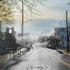 Broadway in Milton after the fire in 1880.