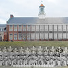 The 1953 Selinsgrove football team in front the high school.