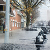 Market Street in Sunbury during the 1936 flood.