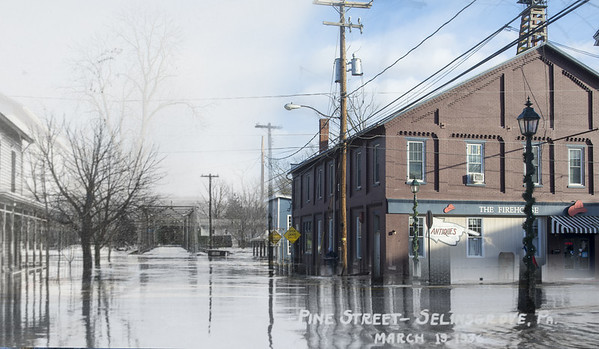 The 1936 Flood on Pine Street in Selinsgrove.