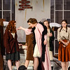 Robert Inglis/The Daily Item  Rachel Blansfield, center, yells at a group of orphans during rehearsal for Danville's production of Annie.