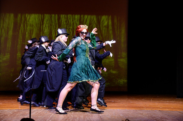 Robert Inglis/The Daily Item  Sheila Barssard is playing the princess Fiona in Southern Columbia's production of Shrek The Musical.