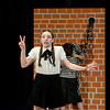 Robert Inglis/The Daily Item  Sadie Walshaw rehearses her role as Wednesday Addams for Line Mountain's production of The Addam's Family musical.