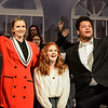 Robert Inglis/The Daily Item  Danville High School students Mackenzie Wright, left, Gina Bonomo, and Derien Yeager, rehearse for the school's production of Annie.