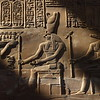 Pharaoh Presenting Gifts to the Gods Horus and Sobek