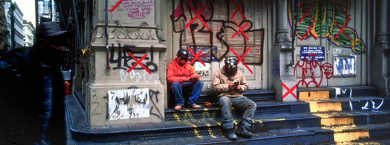 Worker's on phone - SoHo - NY