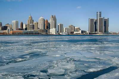 Detroit | Frozen River | Wayne County             winter