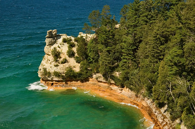 Pictured Rocks National Lakeshore  | Miner's Castle | Alger County           summer
