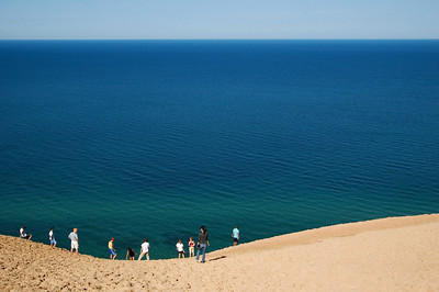 Sleeping Bear Dunes National Lakeshore | Lake Michigan Overlook | Leelanau County          summer