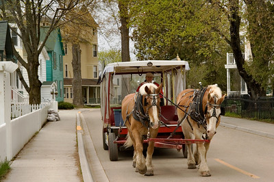 Mackinac Island | Horse-drawn Shuttle | Mackinac County         spring