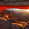 Arch Light. Photo of Mesa Arch at Canyonlands National Park in Utah.<br /> Photo by Mike Reid, All Outdoor Photography Boise.