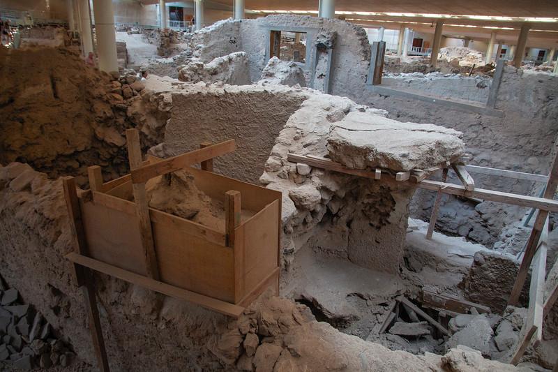 Akrotiri Archeological Site, Santorini, Grece