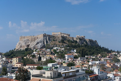 Acropolis - View from our hotel, the Electra Metropolis