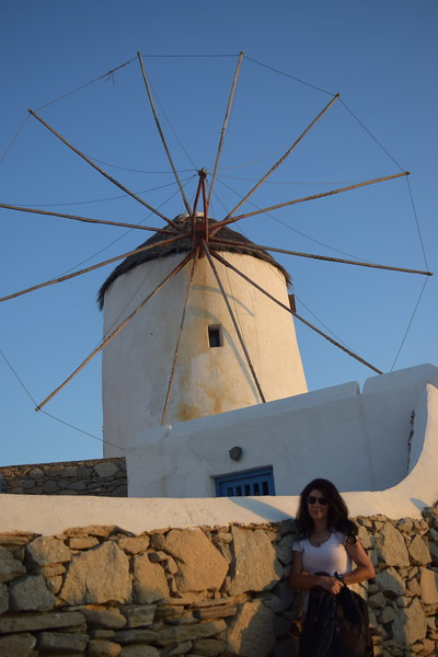 The famous windmills in Mykonos, with a little extra pizzazz