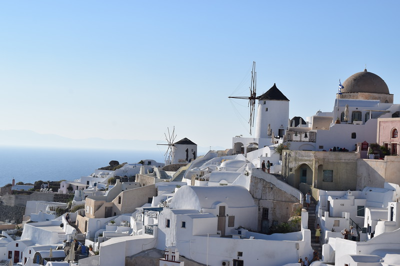 These windmills dot the landscape here in Oia Village, much as they did in Mykonos.