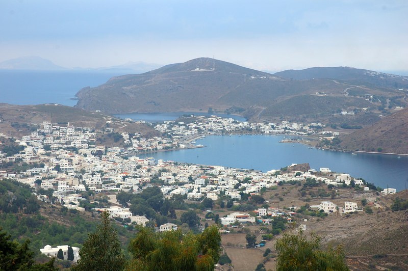 View of channel into Patmos and marina