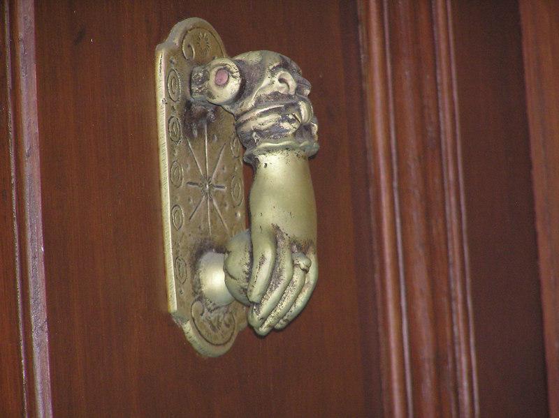 Close up of door knock