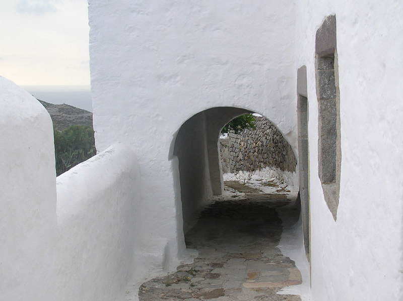 Road to St. John's cave and monestary