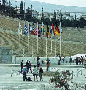 greece-coliseum-flags
