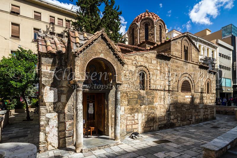 The Byzantine  Church of Panaghia Kapnikarea in Athens, Greece, Europe.