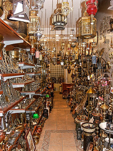 A lighting shop in Athens